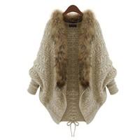 Áo khoác len phối lông cổ - NH026