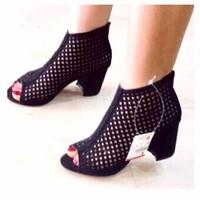 giày gót vuông lưới 2521