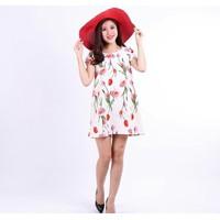Đầm hoa oversize ngắn tay