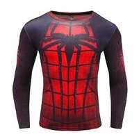 áo phông dài tay body nhện đỏ 3d
