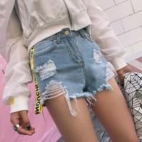 quần short jeans viền kinonchi Mã: QN794 - XANH