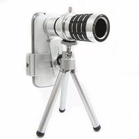 Ống kính lens camera zoom 12x cho smartphone màu Bạc