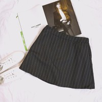 Chân váy sọc Vintage_6845_Hàng Nhập