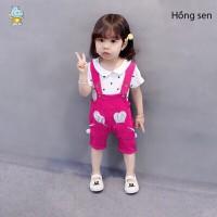 SET ÁO YẾM THỎ HÒNG SEN