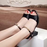 Giày gót vuông quai vàng Dora TAG2920