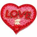 Hoa sáp trái tim- Hoa sáp trái tim 99 bông kèm gấu