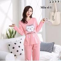 Bộ mặc nhà nữ dài tay size M-2XL - giá 250k -NG835