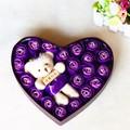 Hộp hoa hồng trái tim 20 bông + 1 gấu