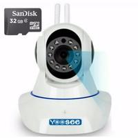 Camera IP Yoosee  2 Angten 1.0 mpx + Thẻ nhớ 32G Hãng
