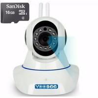 Camera IP Yoosee 2 Angten 1.0 mpx + Thẻ nhớ 16G Hãng