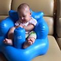 Ghế hơi tập ngồi cho bé + kẹp chống muỗi free ship