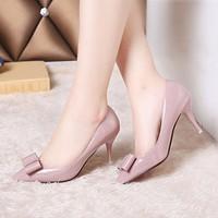 giày cao gót nơ xinh mũi nhọn korea