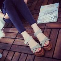 Giày sandal đế xuồng cao cấp