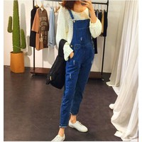 Quần yếm jean dài YD02