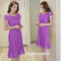 Đầm ren công sở váy ren công sở thời trang Hàn QUốc L12TP137
