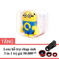 Máy nghe nhạc MP3 Minion Detek màu Vàng tặng Lens