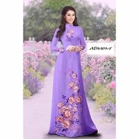 Vải áo dài hoa