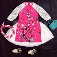 Bộ quần áo dài cách tân cho bé