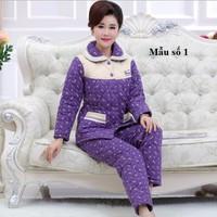 Bộ mặc nhà dài tay nữ size M đến 3XL- giá 750k  -NG9902