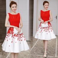 Đầm xoè hoa 3D