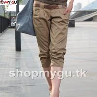 Quần lững nữ Kaki cao cấp phong cách Q17 - Màu kaki