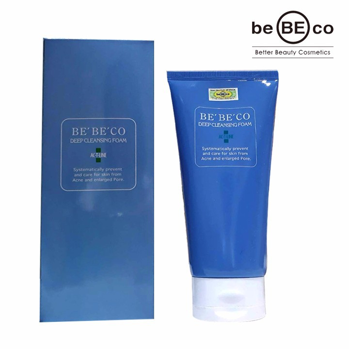 Sữa rửa mặt trị mụn BEBECO AC-T-LINE DEEP CLEANSING FOAM - DD01