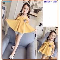 Set short áo form rộng viển bèo phối short jean sành điệu cho bé