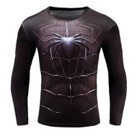 Áo phông dài tay body nhện 3d