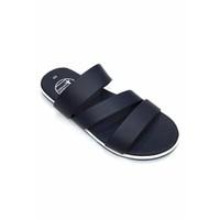 Dép sandal nam màu xanh đen 3 quai ngang thời trang