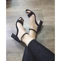 Giày cao gót đế vuông cao 6cm