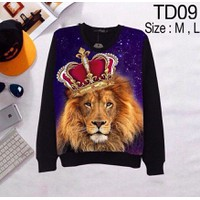 Áo thun 3d tay dài họa tiết vua sư tử