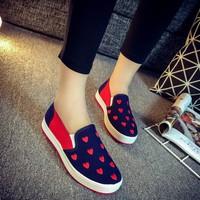 Giày lười trái tim phong cách Hàn