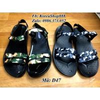 Giày Sandal Quai Ngang Vải Dù Mã D47