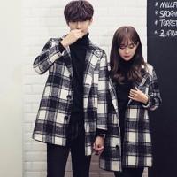 áo khoác blazer măng tô caro Mã: NK1104 - ĐEN
