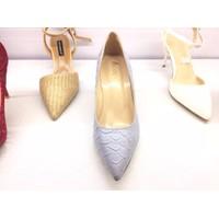 giày cao gót xinh màu xám