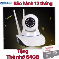 Camera Wifi smart- Camera Yoosee HD - tặng thẻ nhớ 64gb