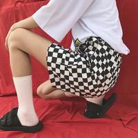 quần short cạp cao sọc caro Mã: QN799