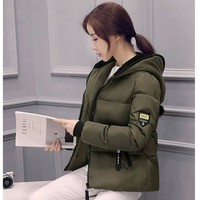Áo khoác phao phong cách Hàn Quốc AK7XANH