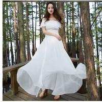 Đầm maxi trắng cao cấp