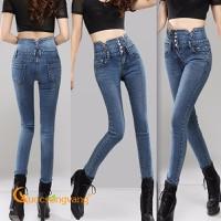 Quần nữ đẹp quần jean nữ lưng cao đính đá GLQ053