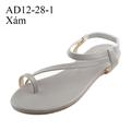Giày sandal nữ I Giày xăng đan xỏ ngón màu xám - AD12-28-1
