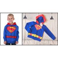 Áo khoác siêu nhân bé trai nón dạng mặt nạ