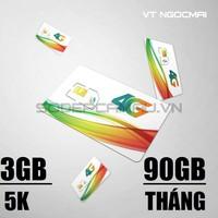 SIM 4G VIETTEL 90GB