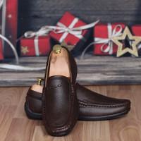 Giày Lười Nam Màu Nâu