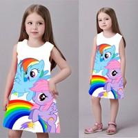 Đầm bé gái in 3D hình ngựa pony MM013
