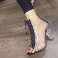 giày bốt gót vuông trong