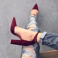 giày cao gót xinh màu đỏ đô