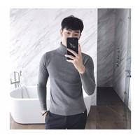 Aó len Nam cao cổ  thời trang