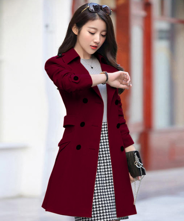 Áo khoác măng tô nữ