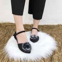 giày búp bê hoa 2698